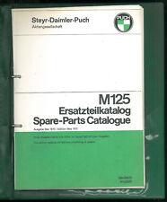 ORIGINAL Spare Parts List PUCH M 125 Catalogue Ersatzteilliste Deutsch English