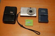 Canon PowerShot Digital ELPH SD1100 IS 8.0MP Digital Camera Silver w/ Case