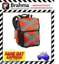 Brahma Pilbara Hi Vis Backpack Reflective Tape Heavy Duty Multi Pocket Orange