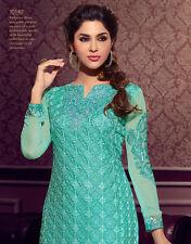 Designer Pure Georgette Salwar Kameez Blue Color Beautiful Looking Suit