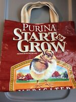 Chicken Chick Feed Tote Bag Purse Handmade Start and Grow Feed Farm Grocery Bag