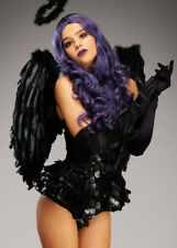 Fallen Angel Gothic Black Feather Wings