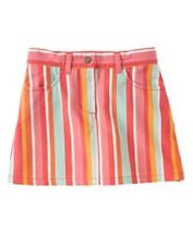GYMBOREE TROPICAL GARDEN MULTI COLOR STRIPE WOVEN SKIRT 5 NWT