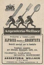 Z2018 Argenteria Wellner - Posate e Vasellame - Pubblicità d'epoca - Advertising