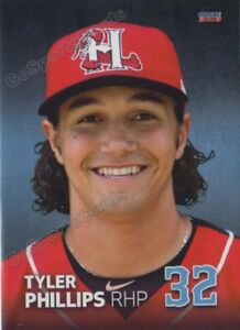 2018 Hickory Crawdads Tyler Phillips RC Rookie Texas Rangers Minor