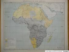 Völkerkarte von Afrika, Völkerkunde, 1893, Brockhaus 14.Aufl.
