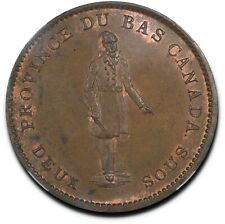 1837 Lower Canada City Bank Habitant Token, Breton-521, LC-9A3, MS63 Brown NGC