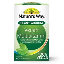 Nature's Way Plant Wisdom Vegan Multivitamin 60 Tablets Vegan Vitamin B12 Iron