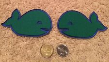 2 Hartford Whalers Green NHL Whales Shoulder Hockey Crest Patch 4.5 by 2.75