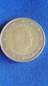 Moneta 2 Euro 2015 Principe Alberto II di Monaco circolata Prince Albert II