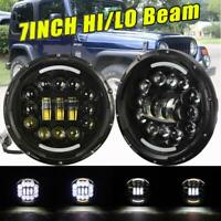 "DOT 7"" Inch LED Headlight 240W Round HI/LO Beam for Jeep JK JL TJ YJ Chevy Truck"