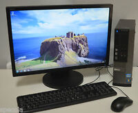 """FAST Dell OFFICE PC SET Monitor 19"""" Intel i3 4GB DDR3 500GB Win 7 READY TO USE"""