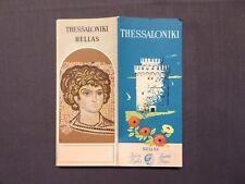 Reiseprospekt Hellas, Thessaloniki, Griechenland, Athen 1957, deutsch