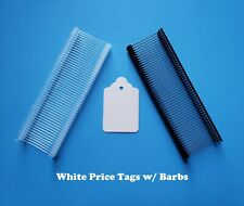 Blank White Price Tags Large Small With Barbs No String Unstrung Merchandise