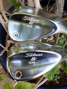 Titleist SM7 Chrome 56.14F SW Or 60.14K Lob AMT Red R300 Steel Singles RH