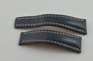 Breitling Calf Leather Bracelet 0 15/16in 24-20 For Folding Clasp 102X Blue