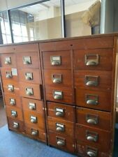 More details for large wooden bureau with drawers