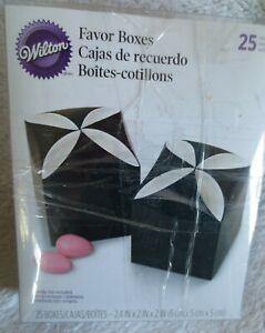 Wilton Petal Favor  Boxes Favor Kit  Wedding Party Color Black New