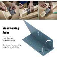 3D Woodworking Ruler Mitre Angle Measuring Gauge Square Size Measure Tool
