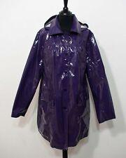 Damen Regen Lack Kurz Mantel von Mia Linea Grösse 46 Kapuze Glanz S834