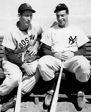 YANKEES JOE DIMAGGIO  RED SOX TED WILLIAMS CLASSIC  photo 8 x10 ! !  WOW