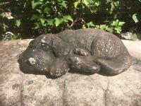 Hound Dog  Statue, Sitting Concrete Garden, Outdoor Cement Grave Marker,