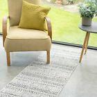 Stiped Cream Beige Rugs Tribal Japandi Berber Style Soft Close Woven Carpet Mats