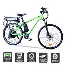"""48V 1000W Electric Ebike Mountain Bike Rear Hub Motor 15Ah  Lithium Battery 26"""""""