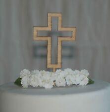 Cross cake topper for Baptism, Christening, Holy Communion Cake Wooden Cross