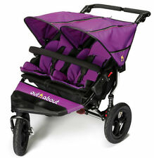 Brand new boxed Out n About nipper 360 double pushchair v4 in purple punch & pvc