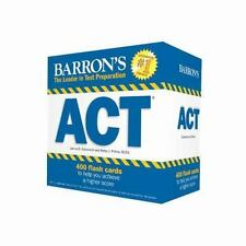 Barron's ACT Flash Cards, 2nd Edition: 410 Flash Cards to Help You Achieve a Hig