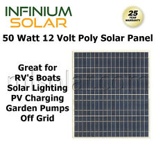 50w 50 Watts 12V Poly Solar Cell RV Solar Panel PV Charger Boat Off Grid