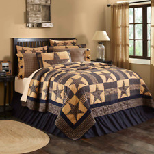 FARMHOUSE COUNTRY PRIMITIVE TETON STAR PATCHWORK QUILTED BEDDING COLLECTION