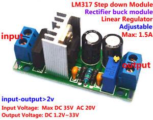 AC/DC to DC Converter Adjustable LM317 Voltage Regulator Step-down Module 5v 12v