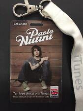 PAULO NUTINI  RARE I-TUNES LOW NUMBERED CONCERT  LAMINATE 2007 MINT