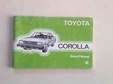 Original Genuine Toyota Corolla KE70 RWD Factory UK Owners Manual. RARE!