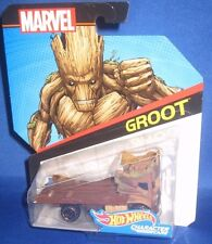 MARVEL AVENGERS COLLECTOR HOT WHEELS GUARDIAN OF THE GALAXY GROOT CHARACTER CARS