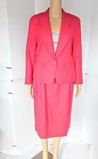 Women's Pendleton Pink Wool Suit Blazer Skirt Set Vintage Petite Medium 8/10 Set