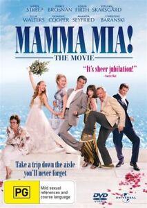 MAMMA MIA THE MOVIE DVD MERYRL STREEP REGION 4 NEW AND SEALED
