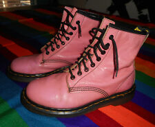 DOC Dr MARTENS Combat Boots PINK 8 hole VINTAGE Made in England UK 5 - (US 7)