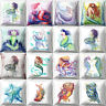 """Polyester Pillow Case Mermaid Cushion Covers Linen Throw Pillow Case 18"""""""