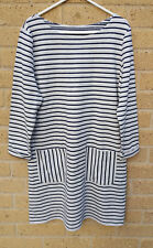 Women's TU Stripe Dress/Tunic Top with Pockets Size 12 Cotton Blend  BNWT