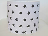 NEW Handmade White Dark Grey Star 25CM 30CM Lampshade Lightshade Baby Nursery