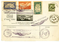 Algeria France Stamps Used Semi Official Card