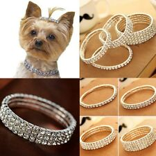 Cute Mini Pet Dog Bling Rhinestone Chocker Collars Fancy Chihuahua Dog Necklace