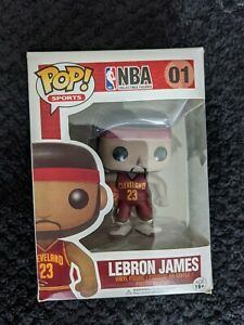 Lebron james funko pop #01 Cavaliers Red Jersey Championship Valuted New Sealed