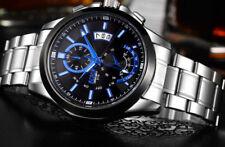 Schwarze Markenlose Armbanduhren mit Edelstahl-Armband