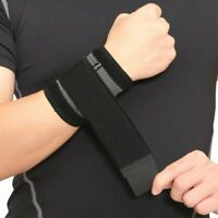 2pcs Sport Wrist Brace Hand Band Wrap Adjustable Support Gym Strap Bandage Belt*