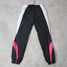 VINTAGE Nike Windbreaker Pants Adult Large Black Pink Spell Out Swoosh Mens 90s