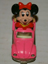Disney Minnie Mouse Volkswagen Beetle Diecast Toy Car 1970s Near Mint Never Used